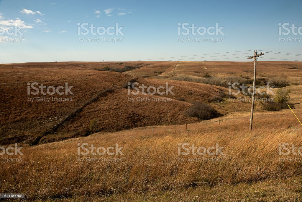 Brown Flint Hills stock photo