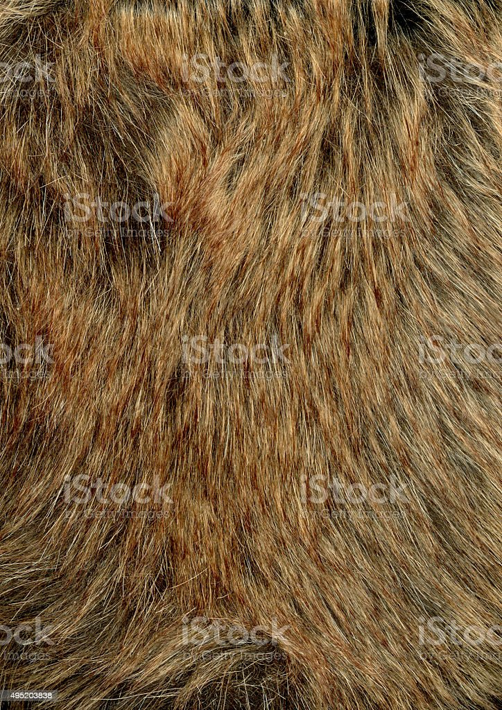 Brown fur background stock photo