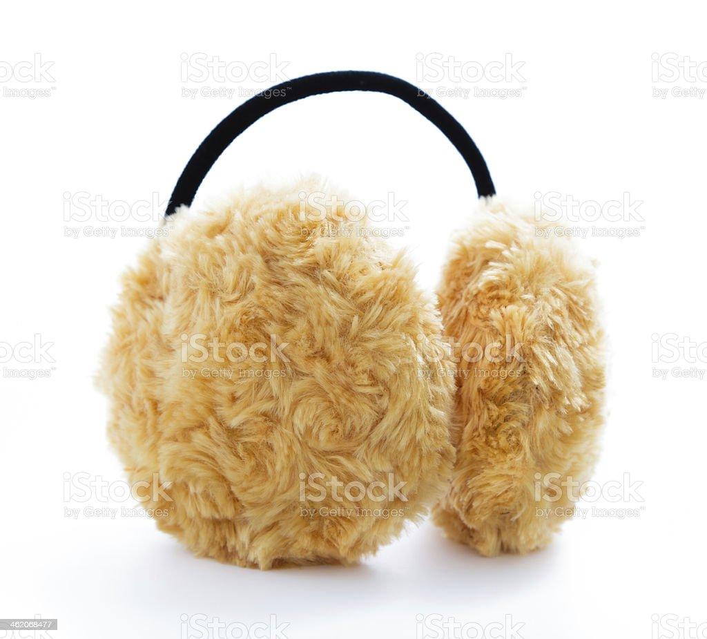 Brown Fuzzy Ear Muffs stock photo