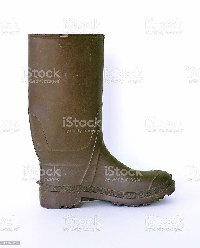 Brown Gardening Boot royalty-free stock photo