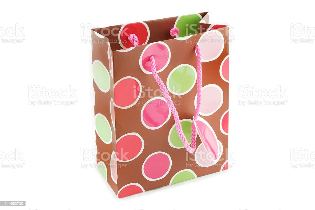 Brown Gift Bag royalty-free stock photo