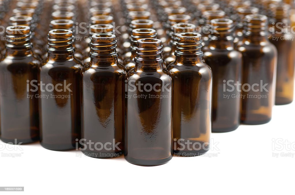 brown glas bottles for medicine royalty-free stock photo