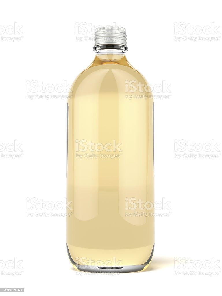 Brown glass beer bottle royalty-free stock photo