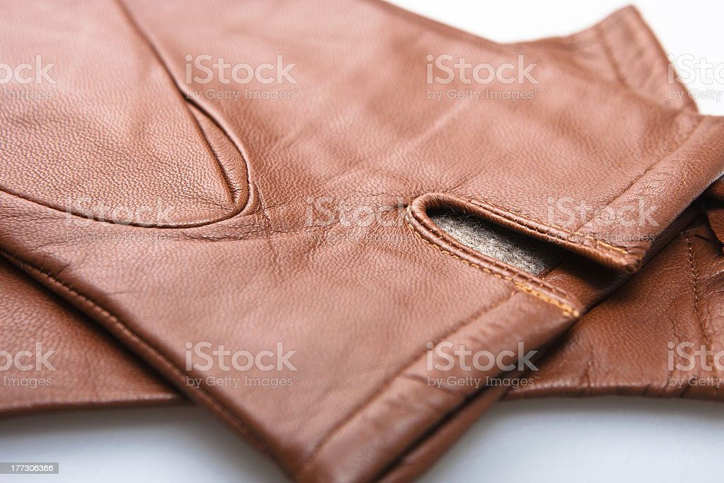 brown gloves close-up royalty-free stock photo