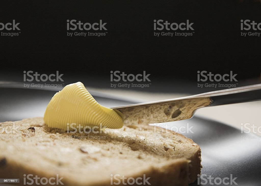 Brown Granary Bread and Butter stock photo