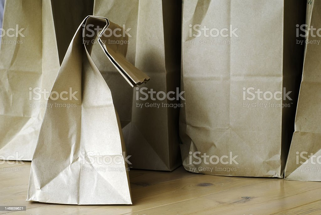 Brown Grocery Bags stock photo