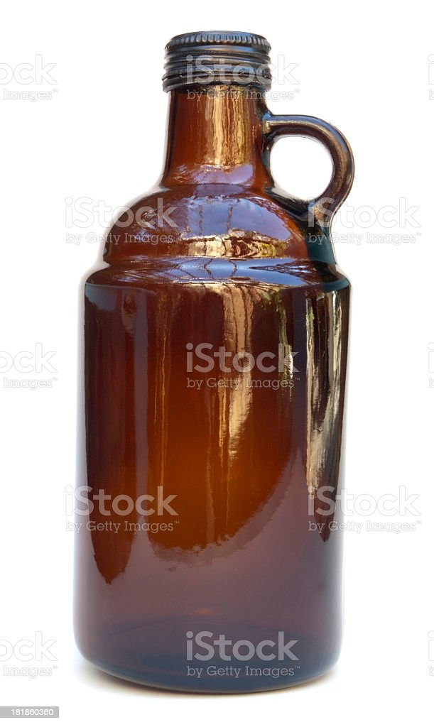 Brown Growler Jug stock photo