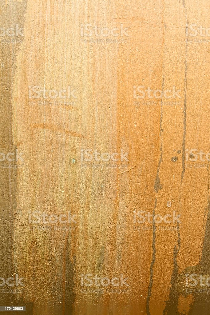 Brown grunge background with erosion stains and leaks royalty-free stock photo