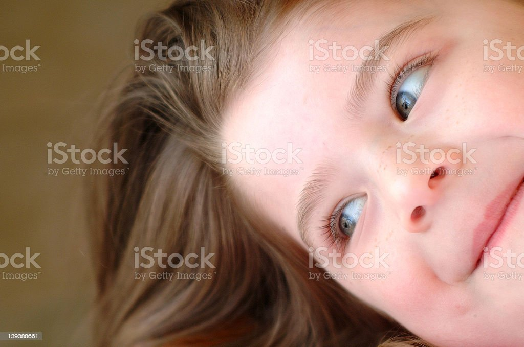 Brown Hair royalty-free stock photo