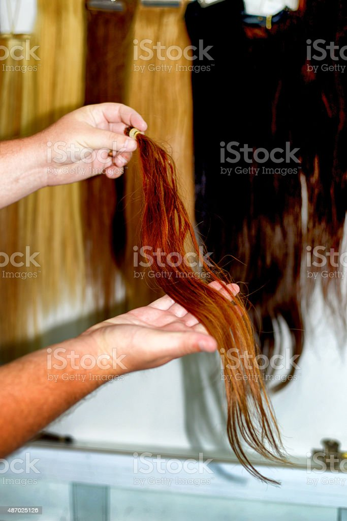 brown hair stock photo