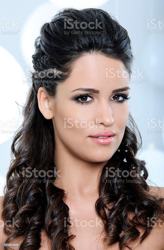 brown hair woman royalty-free stock photo