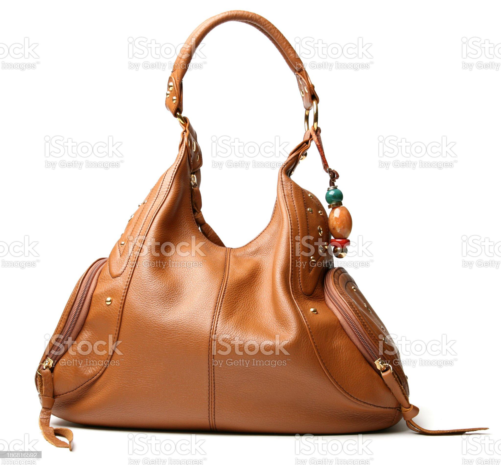 brown handbag royalty-free stock photo