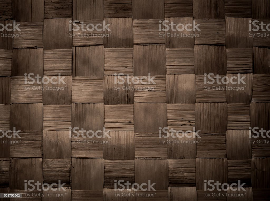 brown handicraft weave banana fiber surface stock photo