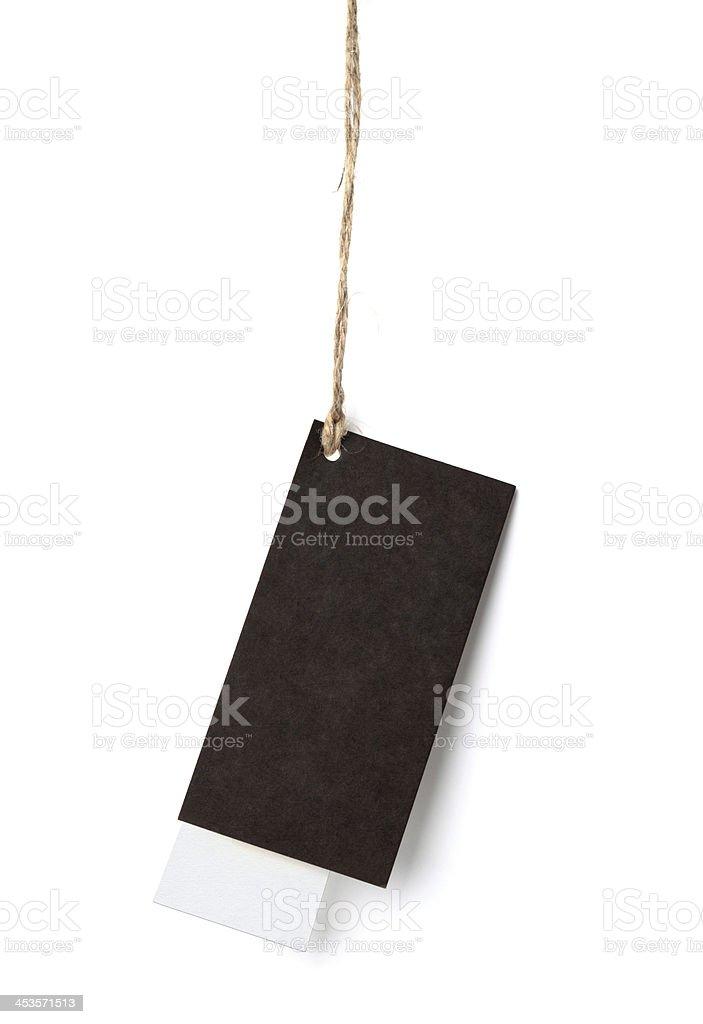 Brown Hanging Tag royalty-free stock photo