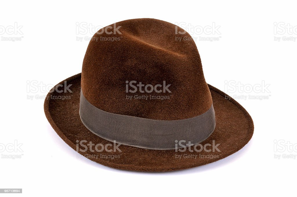 Brown Hat royalty-free stock photo