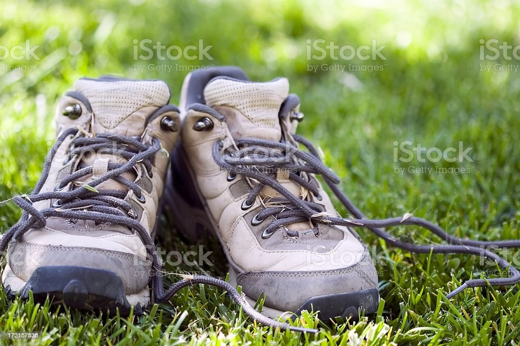 Brown Hiking Boots stock photo