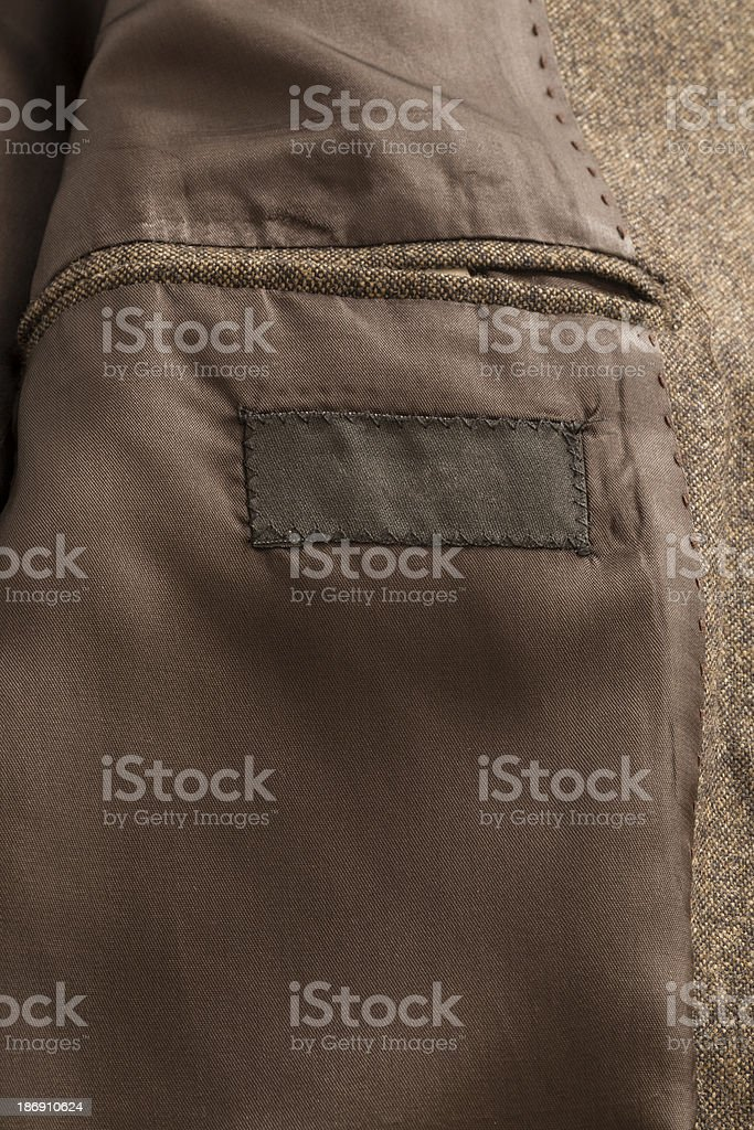 Brown Jacket Pocket royalty-free stock photo