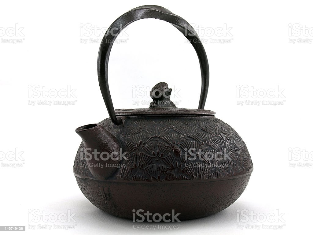 Brown Japanese Teapot royalty-free stock photo