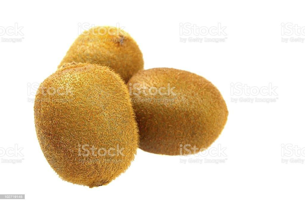 brown Kiwi fruit isolated stock photo