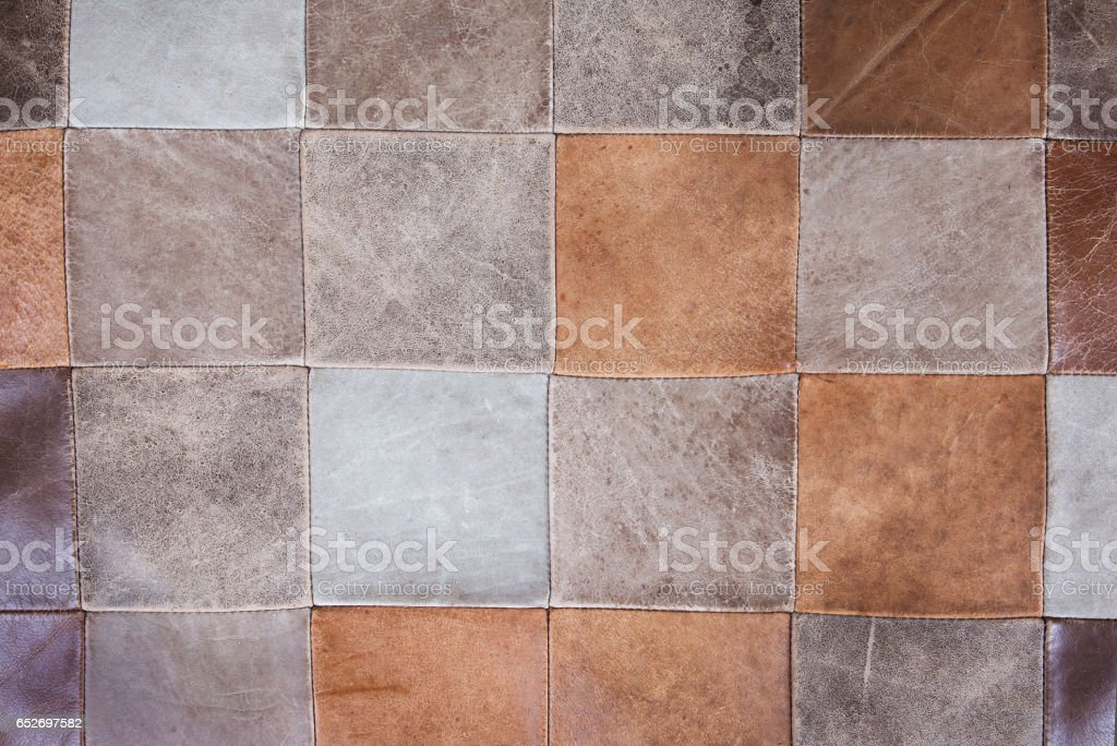 brown leather abstract checkered texture.Grid leather texture.Checkered leather texture background stock photo