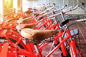 brown leather bike saddle