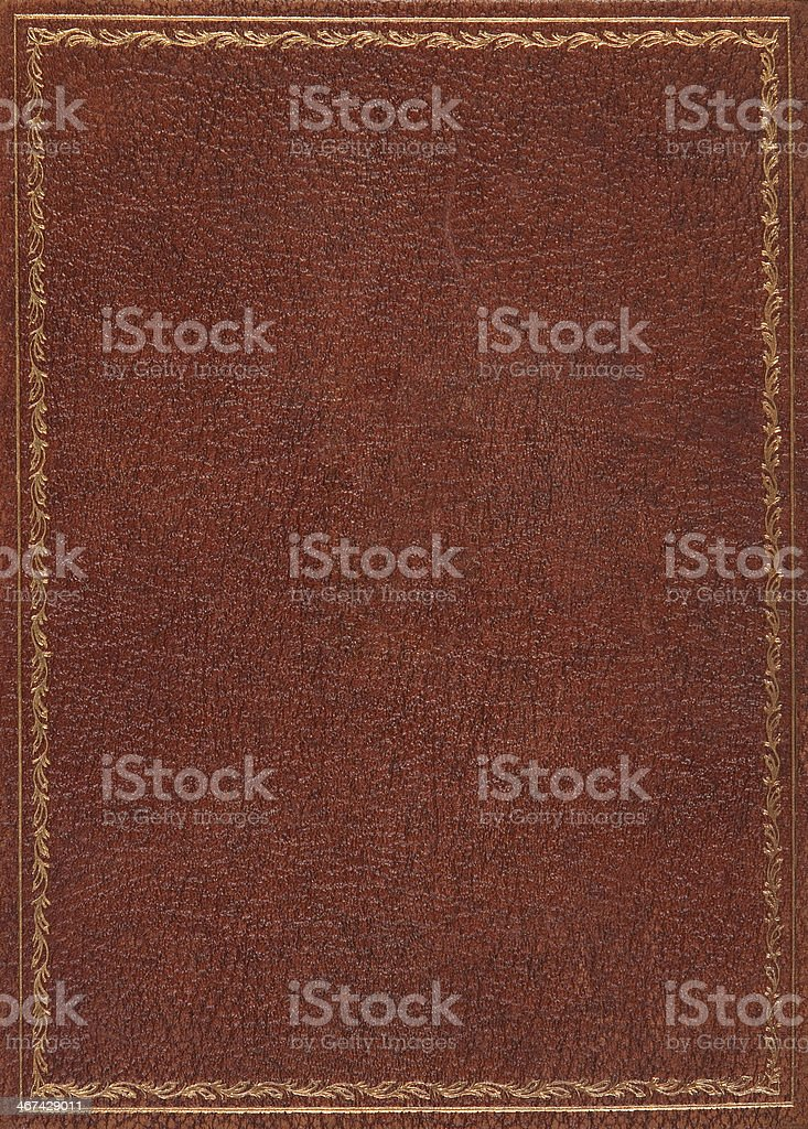 Brown leather book cover background stock photo