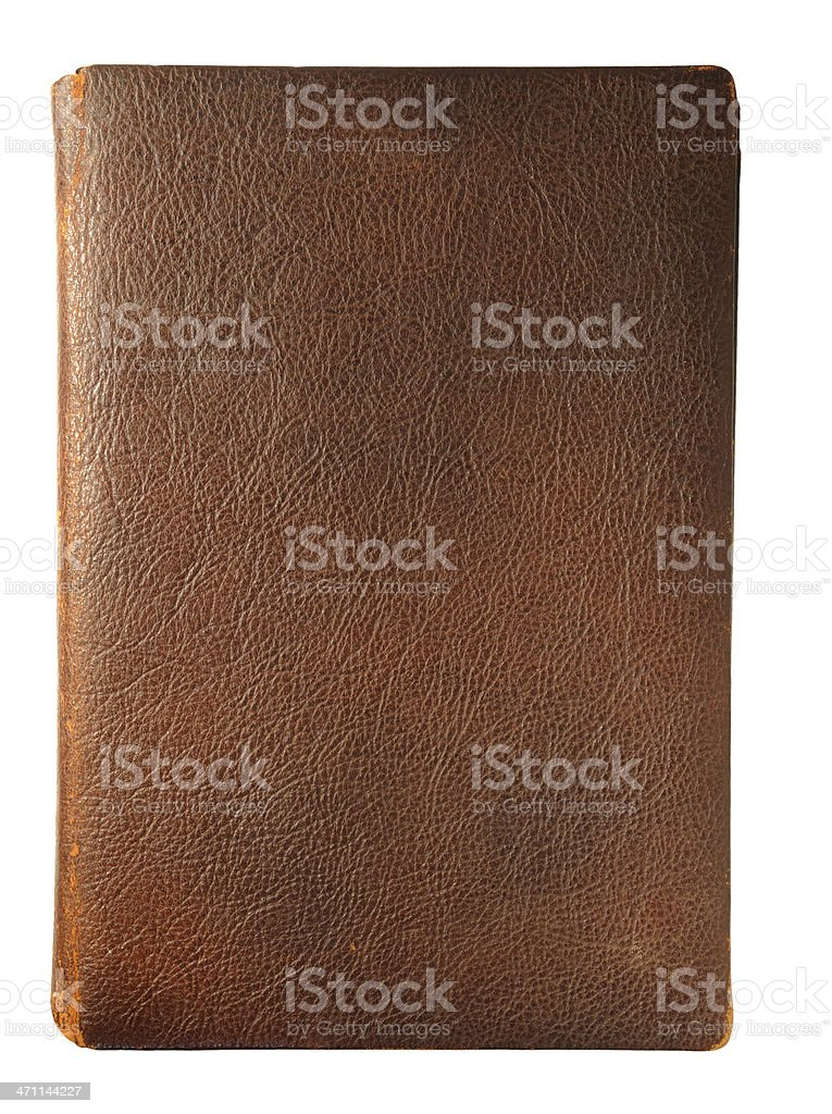 Brown Leather Book stock photo