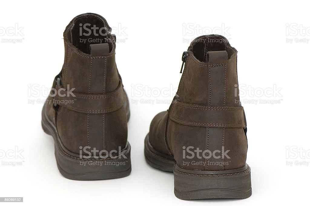 Brown Leather Boots royalty-free stock photo