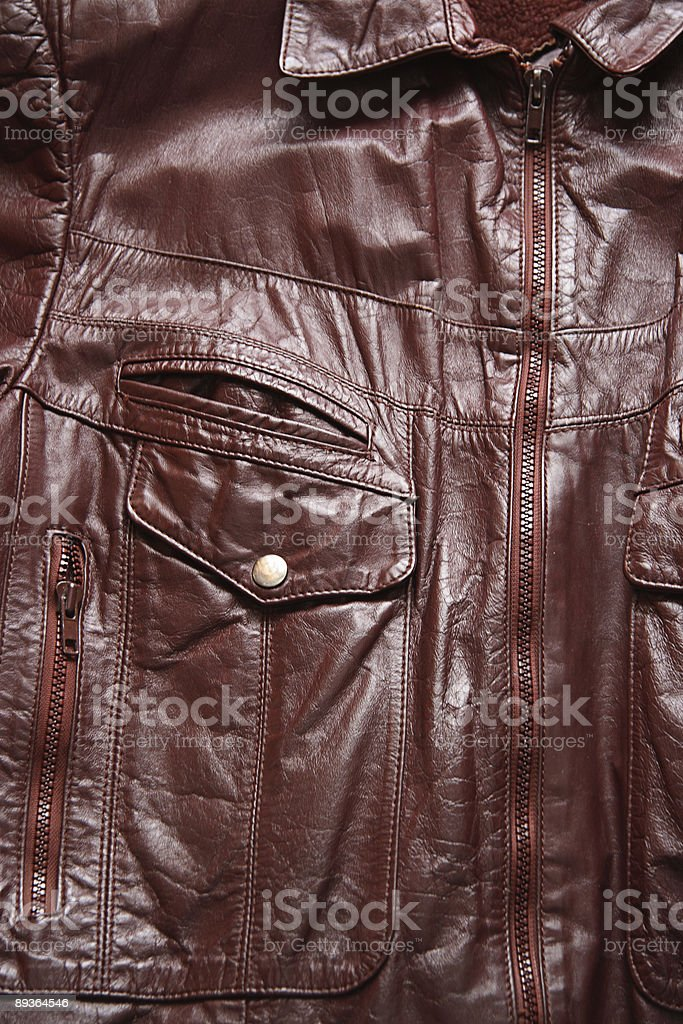 Brown Leather Coat royalty-free stock photo
