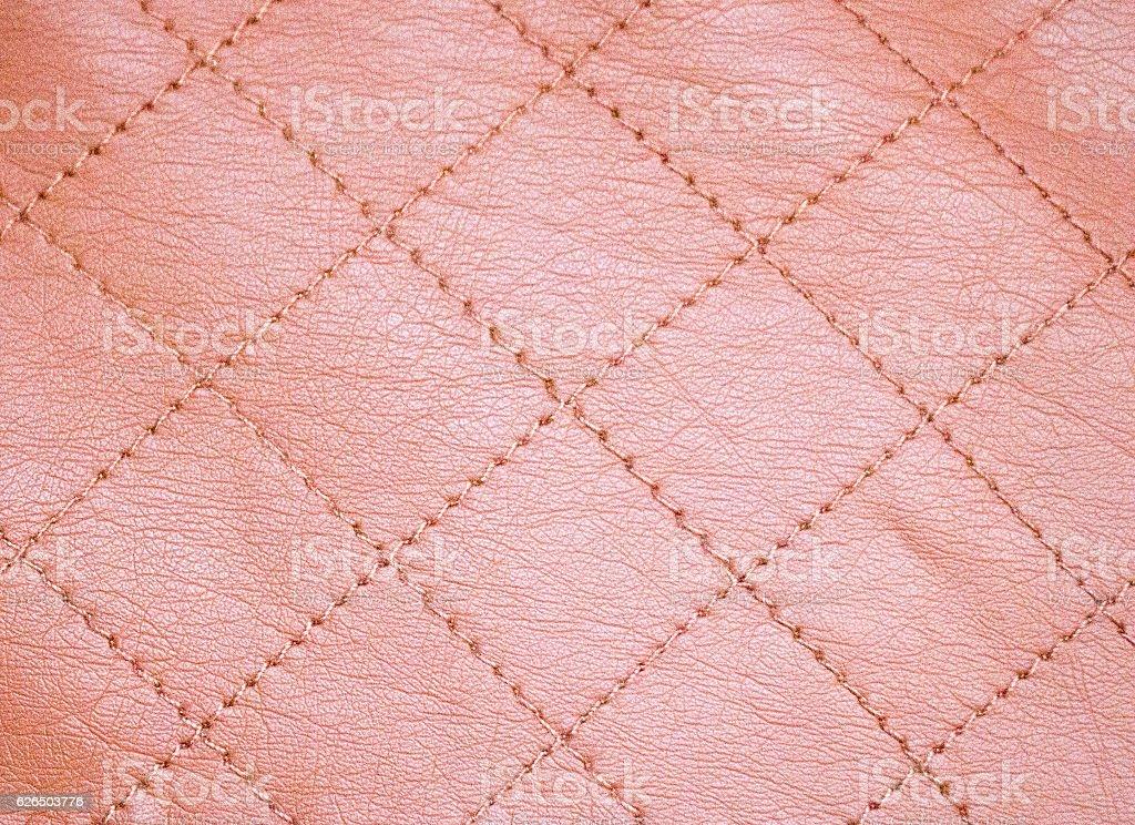 Brown leather diamond pattern stock photo