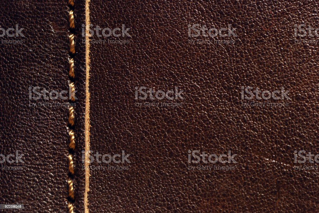 Brown leather macro background royalty-free stock photo