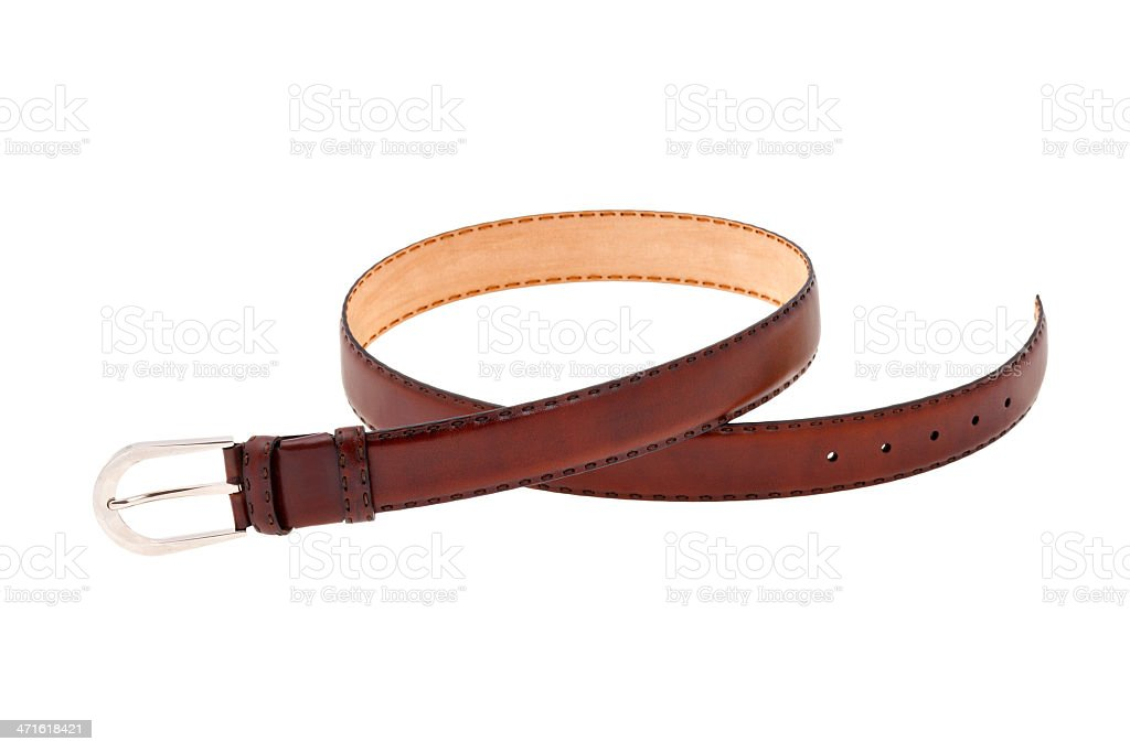 Brown leather male belt royalty-free stock photo