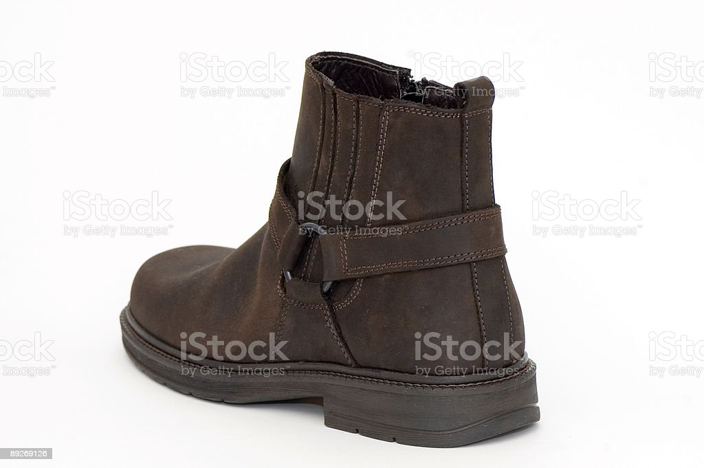 Brown Leather Men Boots royalty-free stock photo