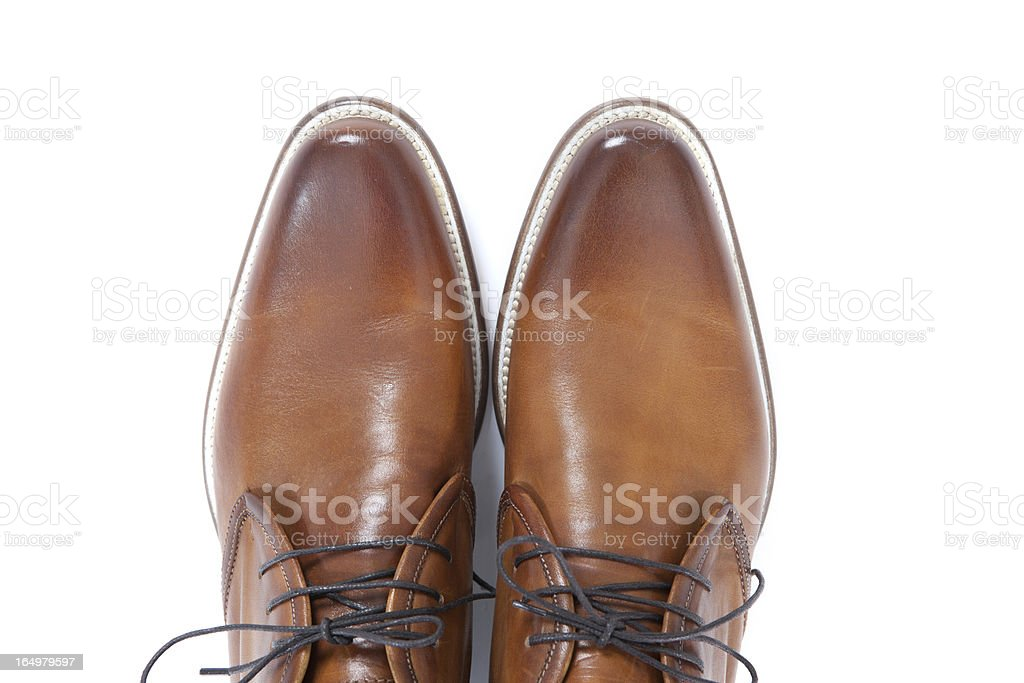 brown leather men shoes stock photo