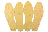 Brown leather shoe insoles