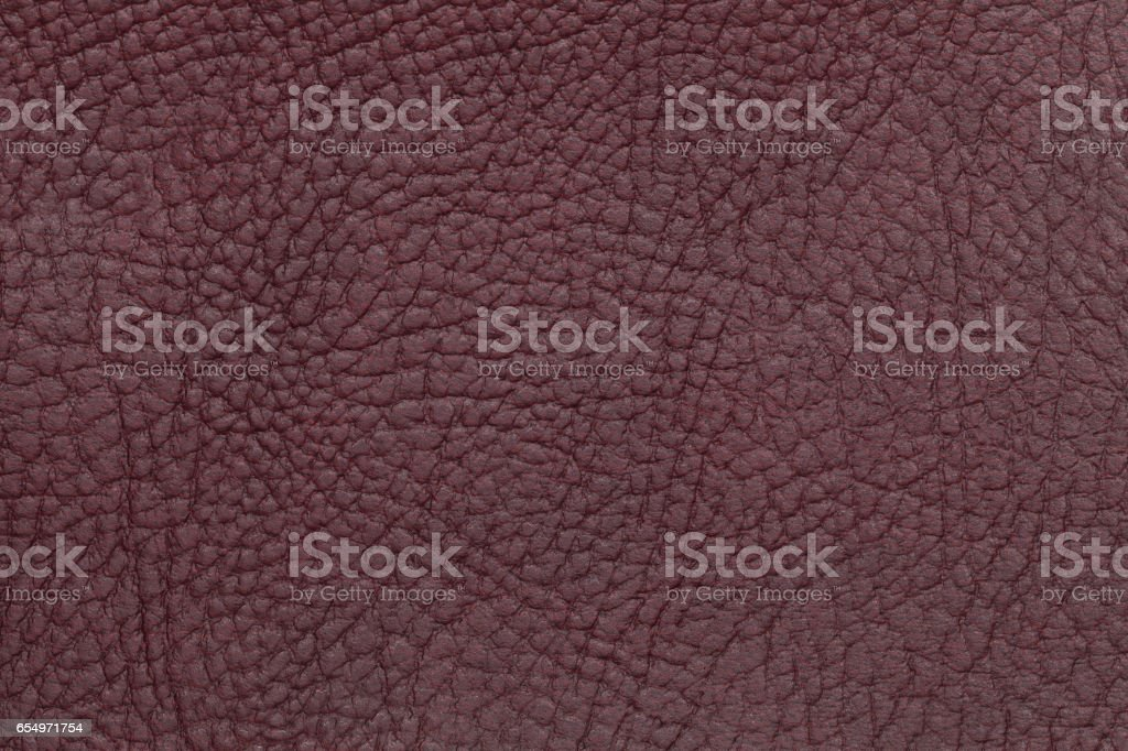Brown leather texture background. Closeup photo. stock photo
