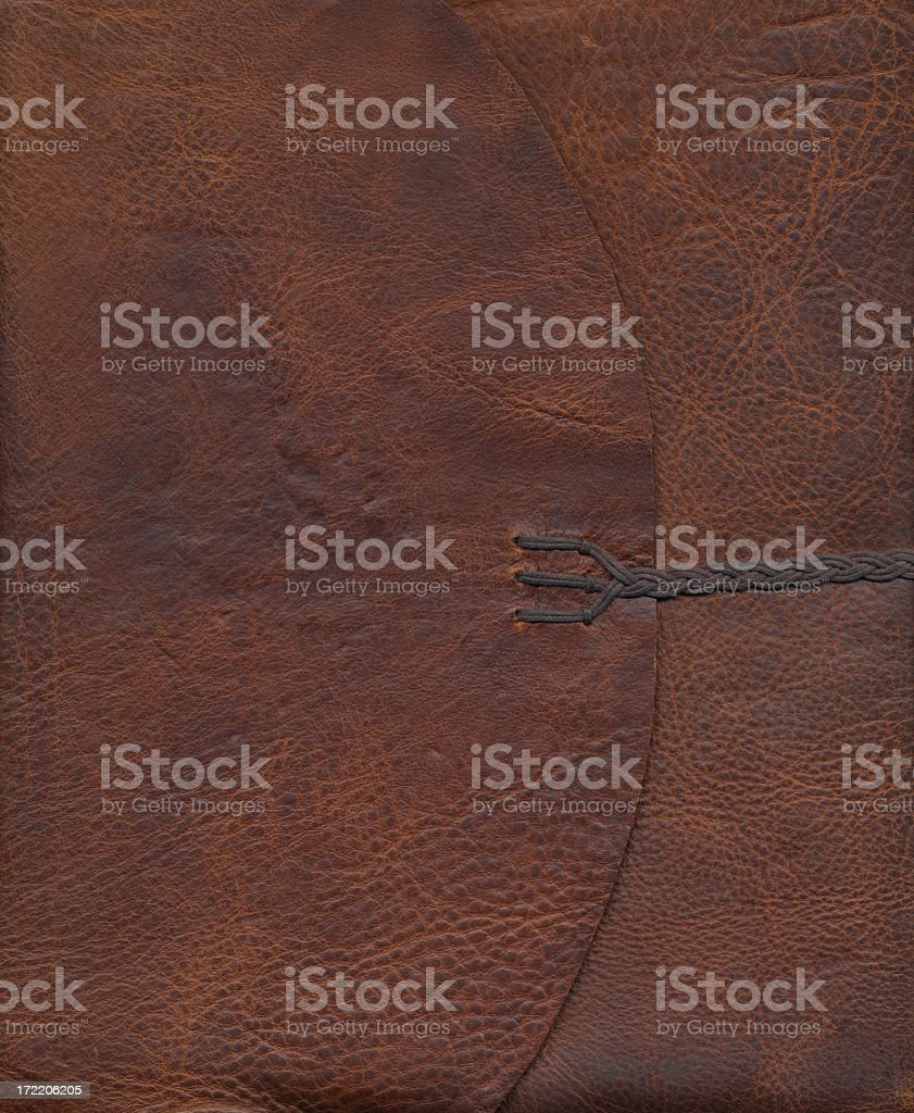Brown Leather Texture Journal Cover 1 royalty-free stock photo