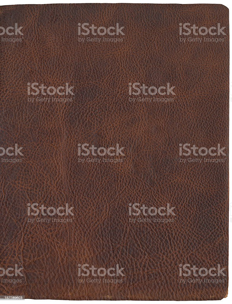 Brown Leather Texture Journal Cover 2 stock photo