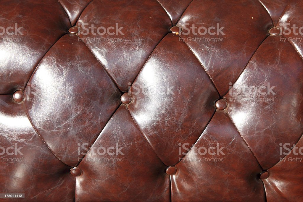brown Leather Upholstery Background royalty-free stock photo
