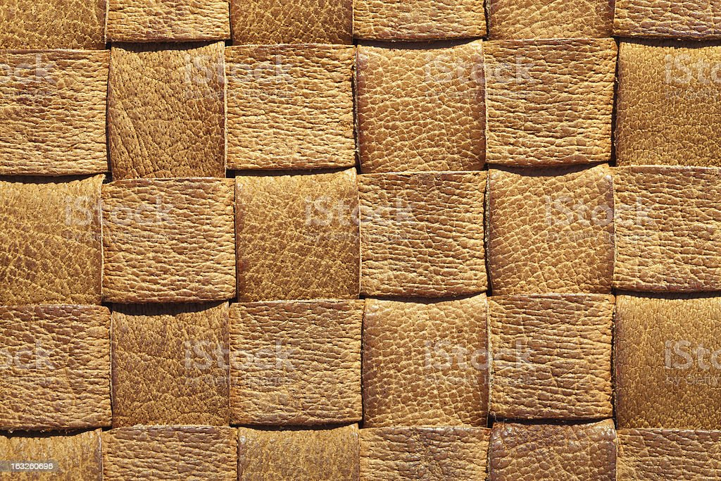 Brown leather woven background royalty-free stock photo