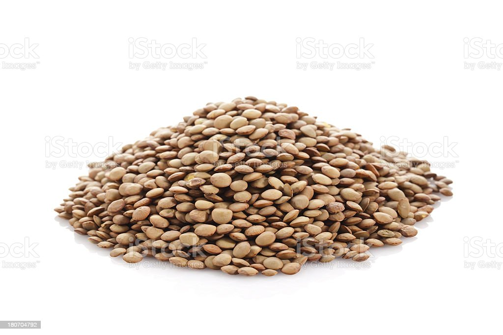 Brown Lentil royalty-free stock photo