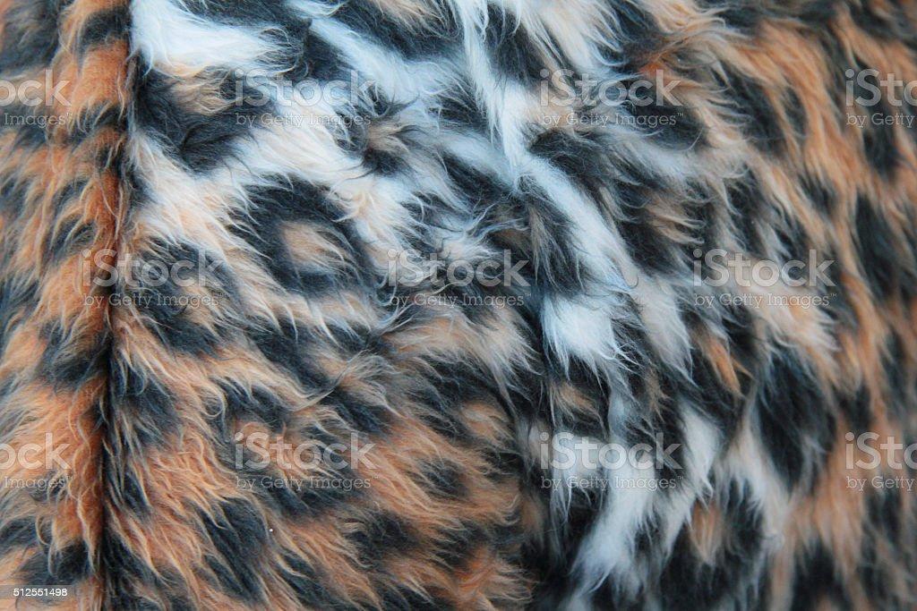 brown leopard faux fur stock photo