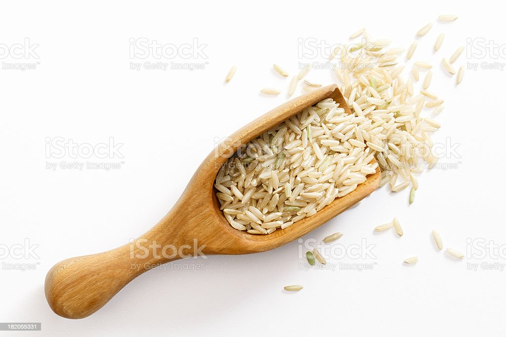 Brown Long Grain Rice stock photo