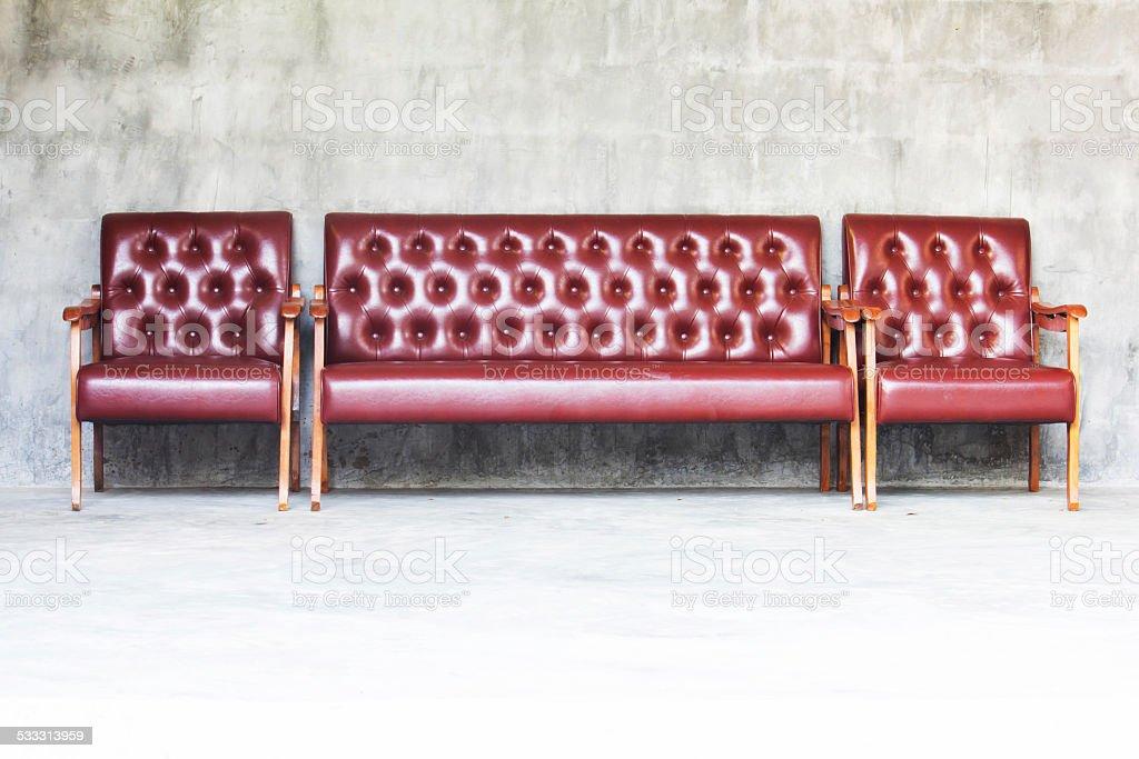 Brown Luxurious sofa stock photo