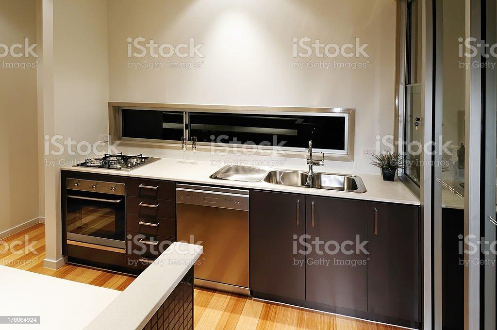 Brown luxury kitchen royalty-free stock photo