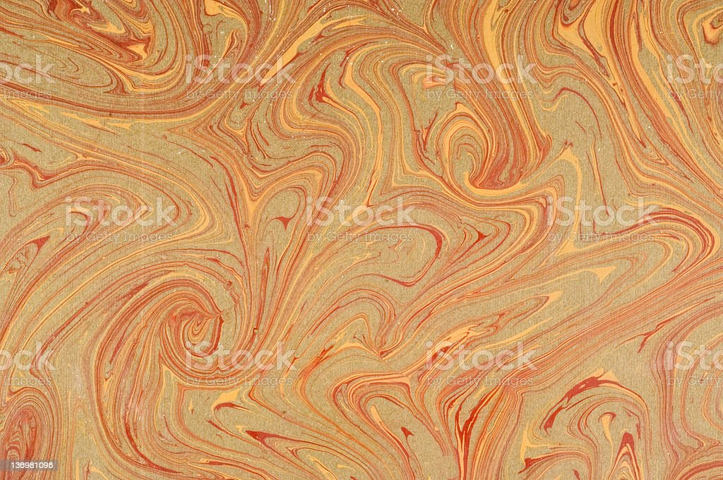 brown marbled paper stock photo