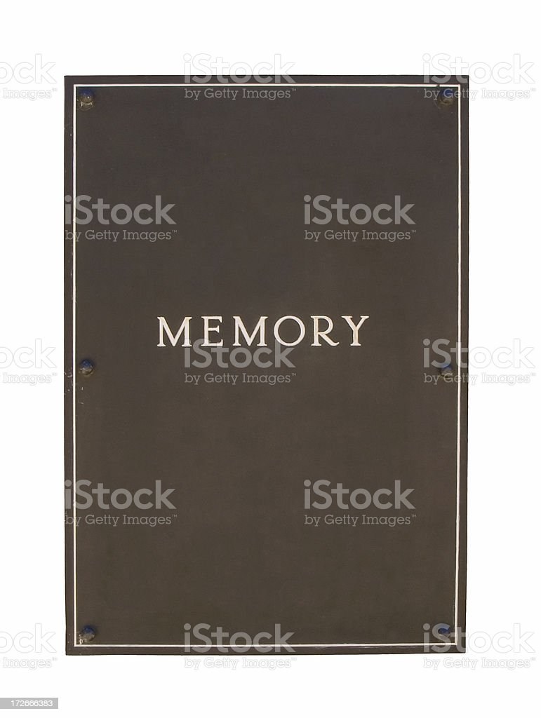 brown metal frame or plaque - heavy duty: isolated royalty-free stock photo