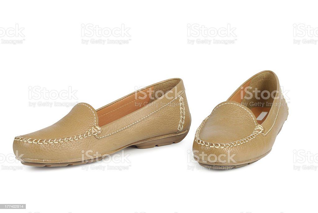 Brown Moccasins stock photo