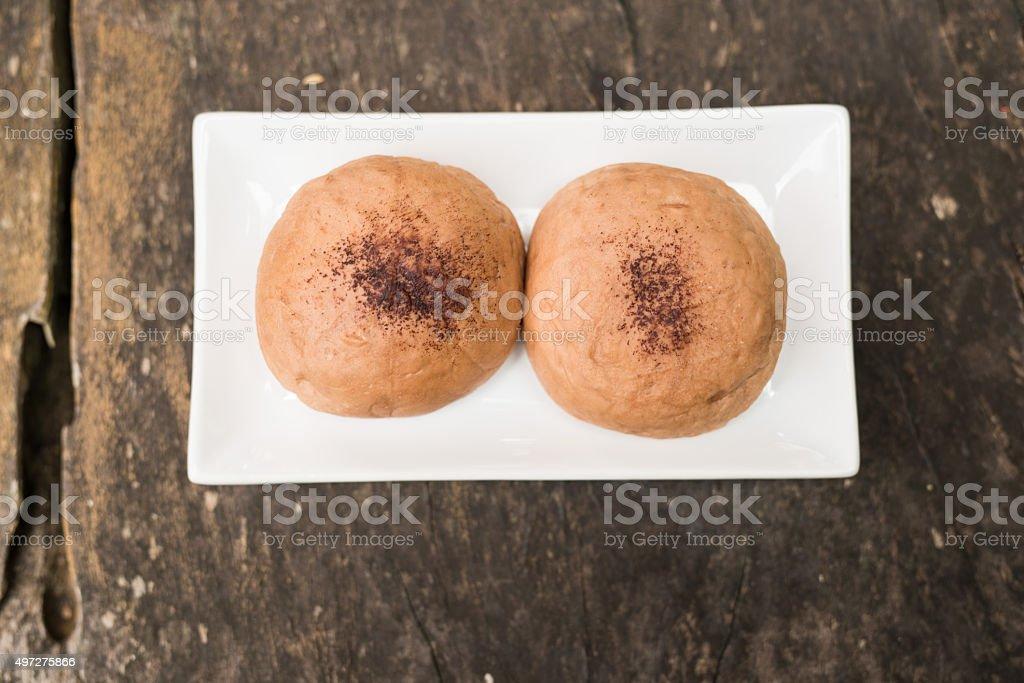 brown mochi stock photo