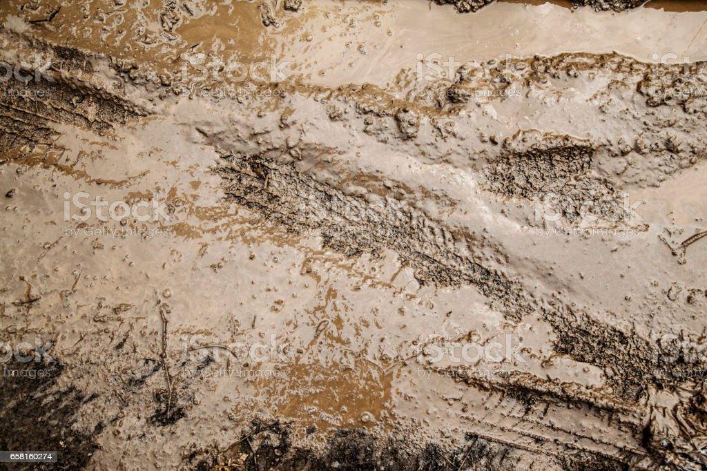 Brown mud natural soil stock photo